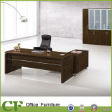 Luxury Office Executive Desk with Zinc Spares and Side Cabinet