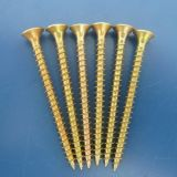 Yellow Zinc Plated Wood Screw with High Quality