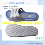 Stock Lots EVA Injection Flat Slipper with Grey Color