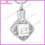 Pet Memorial Jewelry Rhombus Pendants with Square Pattern Ijd9659