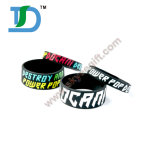 Cheap Custom Bracelet Stainless Steel Cuff Bangle Black Silicone Wristband