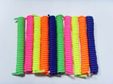 Factory Custom High Quality 14cm Elastic No Tie Curly Shoelace