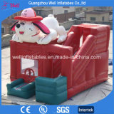 Lovely Dog Inflatable Castle with Slide Bouncy Combo Toys