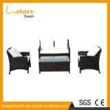 Outdoor Garden Paito Wicker Furniture Sitting Room Cafe Bistro Rattan Sofa Set