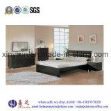 Low Price Wooden Bed MDF Melamine Bedroom Furniture (SH042#)