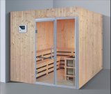2000mm Big Size Square Solid Wood Sauna for 8 Persons with Double Layer Bench (AT-8641)