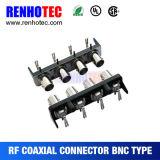 Multi Port BNC Female Connectors for PCB Mount