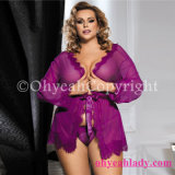 Plus Size Hot Sexy Lace Sleepwear with Thong