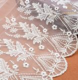 African New Design 35cm White Flexible Mesh Lace Trimming /Elastic Lace Wholesale/Lace Elastic