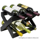Customize Color Wooden Wine Bottles Rack Display Shelf