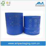 Blue Bespoke Round Tube Electronic Packaging Box with Rolled Edge
