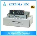 2017 New Best Hardwares&Softwares 4k Uhd Kodi TV Box Zgemma H7c with DVB-S2X+2*DVB-T2/C Triple Tuners