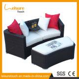 Modern Indoor Rattan Corner Double Sofa Set Leisure Outdoor Garden Patio Sitting Room Furniture