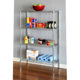 Home Used Adjustable Chrome Metal Bathroom Shelf (CJ-B1118C)