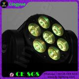 DMX 7PCS 12W Beam LED Mini Moving Lights