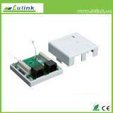 Best Price Cat5e UTP Faceplate Double Port Surface Box