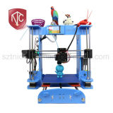 DIY Desktop 3D Printer From Factory (OMY-03) Machine There Are Three Color Options: Green, Blue, and Frosted Red