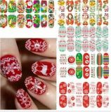 Christmas Decoration Water Transfer Nail Art Stickers Nail Sticker