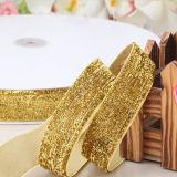 Promotion Polyester Wedding Decoration Silver Satin Ribbon