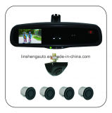"Auto-Dimming Rear View Mirror with 4.3"" LCD Monitor and Distance/Temperature/Direction Display"