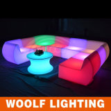 Modern Color Changing LED Round Couch Sofa