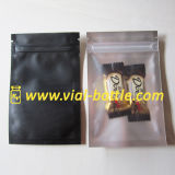 Custom Colored Clear-Black Aluminum Foil Bag with Zipper and Tear Notch for Food Grade