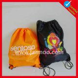 210d Custom Silk Printing Backpack Drawstring Shopping Bag