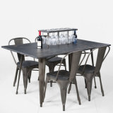 Modern Restaurant Dining Furniture Metal Tolix Table and Chair (FS-14048)