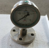 Flange Connection Stainless Steel Vibration Proof Pressure Gauge with High Quanlity