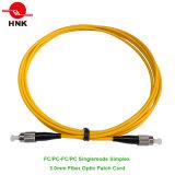 FC/PC-FC/PC Simplex Singlemode 3.0mm Fiber Optic Patch Cable