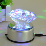 Crystal Heart Diamond Paperweight with LED Base for Option