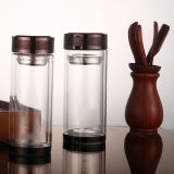 Double Wall Glass Water Bottle with Tea Infuser