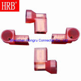 Cold Pressing Nylon Insulation Flag Terminal with 5.84mm Diameter