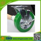 Heavy Duty Side Brake Caster with PU Aluminium Wheels