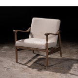 (SL-8203) Solid Wood Hotel Restaurant Room Furniture Wooden Leisure Arm Chair