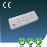 Surge-Proof Outlet European Power Socket with USB