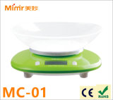 Electronic Kitchen Scale Mimir 2-5000g Green with Bowl 11lb X 0.1oz / 5000 X 1g