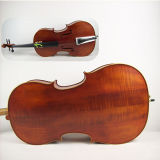 Handmade Oil Brown Purflied Inlaid Solid Flame Maple Cello