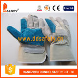 Ddsafety 2017 Double Palm Reinforced Blue Leather Working Safety Glove