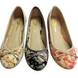 Hand-Made Fashion Woman Slipper Ladies Flat Shoes (mm150828-21)