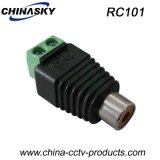 Female CCTV RCA Adapter with Screw Terminal (RC101)