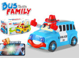 B/O Plastic Bus with 3D Light Vehicle Toy (H6614047)