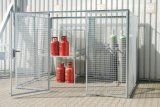 Gas Cylinder Storage Wire Mesh Cage with Roof