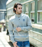 Cool Mens Stand Collar Pullover with Custom Print Logo