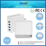 4-Port USB Wall Charger Station with QC Charger 3.0 36W USB Mobile Phone Travel Adapter