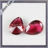 Low Price Red Color Pear Glass Beads