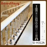 Elegant Acrylic Balustrade for Interior Villa Stair Decoration
