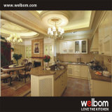 Welbom Traditional Solid Wood Kitchen Cabinets with Island