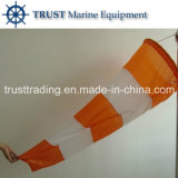 High Strength Waterproof Nylon Fabric Orange and White Color Wind Sock