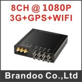 8 Channel Car DVR, Full HD 1080P Video, 3G/GPS/WiFi, HDD/SSD